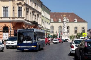 Buses in Buda Castle Budapest