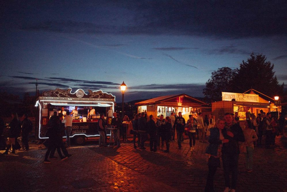 Buda-Castle-Palinka-Sausage-Festival-Budapest-Night-Stalls