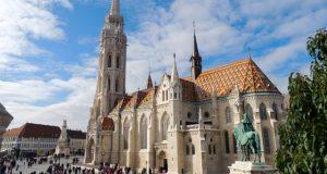 Matthias Church Buda Castle by Fishermans Bastion