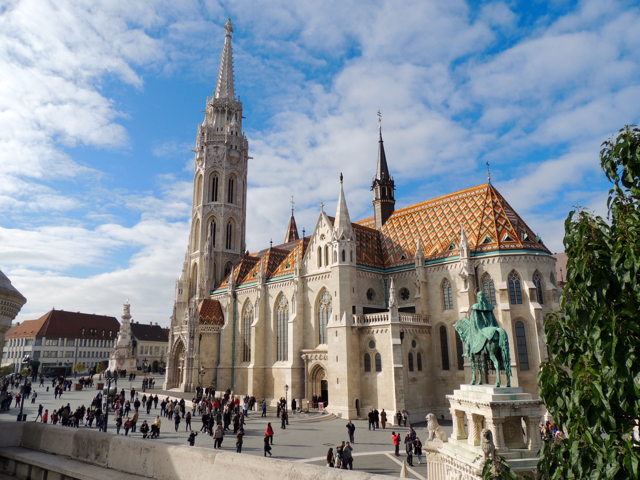 Matthias Church Buda Castle by Fishermans Bastion