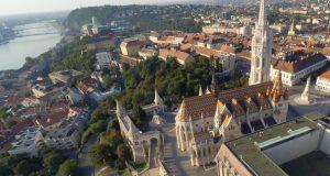 Matthias Church Budapest Aerial Photo